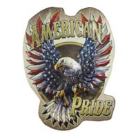 American Pride 12.5-Inch x 17.5-Inch Embossed Metal Wall Sign