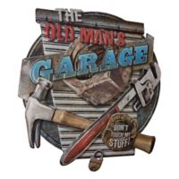 The Old Man's Garage 15.5-Inch x 16.5-Inch Embossed Metal Wall Sign