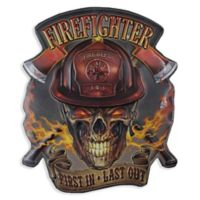 Firefighter 14-Inch x 17-Inch Metal Wall Art