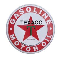 Masterpiece Art Gallery 15.5-Inch Round Texaco Motor Oil Metal Sign Wall Art