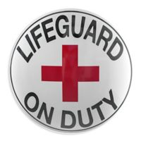 Crystal Art Lifeguard 15-Inch x 15-Inch Metal Wall Art in White/Red