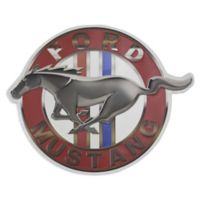 Crystal Art Ford Mustang 17.25-Inch x 14-Inch Meteal Wall Art in Red