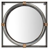 Antique Metal 17.2-Inch x 17.2-Inch Framed Wall Mirror in Silver