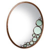 Varaluz Fascination 22-Inch x 28-Inch Oval Wall Mirror in Bronze