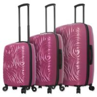 Mia Toro ITALY Swirl 3-Piece Hardside Spinner Luggage Set in Rose