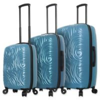 Mia Toro ITALY Swirl 3-Piece Hardside Spinner Luggage Set in Blue
