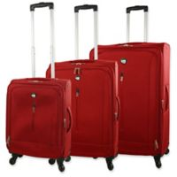 Mia Toro Tena 3-Piece Spinner Luggage Set in Red