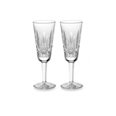 waterford lismore 4ounce champagne flute set of 2 - Waterford Champagne Flutes