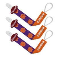 Baby Fanatic Clemson University 3-Pack Pacifier Clips