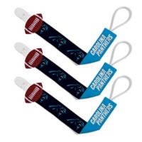 Baby Fanatic NFL Carolina Panthers 3-Pack Pacifier Clips 1defd1734