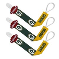 Baby Fanatic NFL Green Bay Packers 3-Pack Pacifier Clips