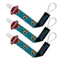 Baby Fanatic NFL Jacksonville Jaguars 3-Pack Pacifier Clips