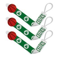 Baby Fanatic NBA Boston Celtics 3-Pack Pacifier Clips