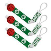 Baby Fanatic NBA Boston Celtics 3-Pack Pacifier Clips