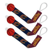 Baby Fanatic NBA Cleveland Cavaliers 3-Pack Pacifier Clips