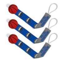 Baby Fanatic NBA Dallas Mavericks 3-Pack Pacifier Clips
