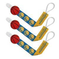 Baby Fanatic NBA Golden State Warriors 3-Pack Pacifier Clips