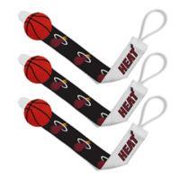 Baby Fanatic NBA Miami Heat 3-Pack Pacifier Clips