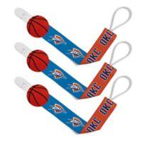 Baby Fanatic NBA Oklahoma City Thunder 3-Pack Pacifier Clips
