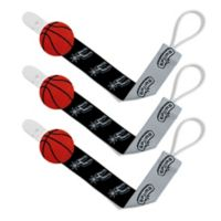 Baby Fanatic NBA San Antonio Spurs 3-Pack Pacifier Clips