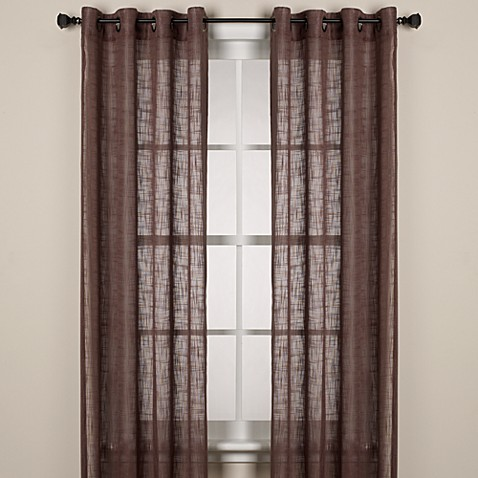 Alton Solid Grommet Window Curtain Panel - Bed Bath & Beyond