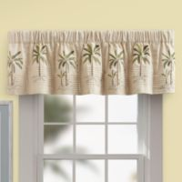 Palm Tree Valance in Ivory