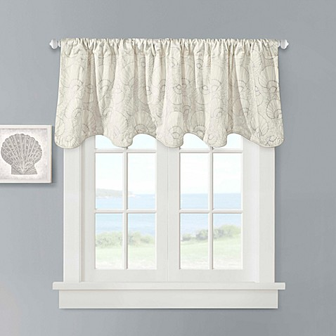 harbor house™ crystal beach scallop valance in ivory - bed bath