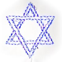 Lighted 36-Inch LED Star of David