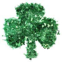 Northlight 17-Inch Tinsel Irish Shamrock St. Patrick's Day Window Decoration in Green