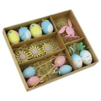 Northlight Easter Egg Decors in Blue (Set of 14)