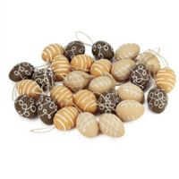 Northlight Decorative Easter Egg Assortment in White/Brown/Natural (Set of 27)