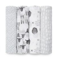 aden® by aden + anais® 4-Pack Cotton Muslin Swaddle Blankets in Pasture