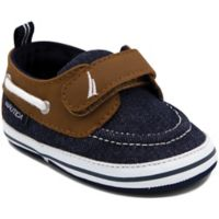Nautica® Size 3-6M Tiny River Boat Shoe in Denim/Tan