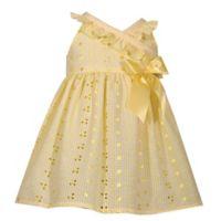 Bonnie Baby Size 0-3M Eyelet Dress in Yellow