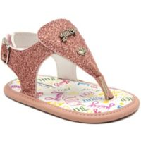 Juicy Couture® Size 6-9M Thong Glitter Sandals in Pink