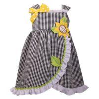 Bonnie Baby Size 2T Sunflower Seersucker Dress in Black/White