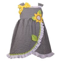 Bonnie Baby Size 12M Sunflower Seersucker Dress in Black/White