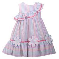 Bonnie Baby Size 4T Daisy Ruffle Seersucker Multicolor Dress