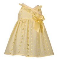 Bonnie Baby Size 4T Eyelet Dress with Bow in Yellow