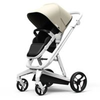 Milkbe Lullaby Auto Stopping Stroller in Beige