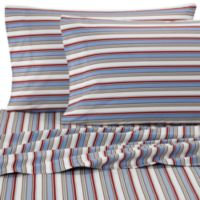 Micro Flannel® Striped Queen Sheet Set