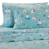 Micro Flannel® Printed Fun in the Snow Twin Sheet Set