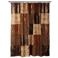 Zambia Shower Curtain in Brown