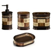 Zambia 4-Piece Bath Ensemble in Brown