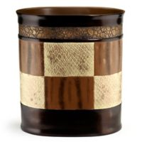 Zambia Shower Wastebasket in Brown
