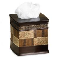 Zambia Boutique Tissue Box Cover in Brown