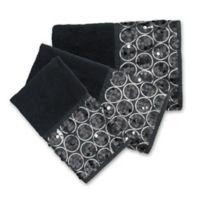 Sinatra 3-Piece Bath Towel Set in Black