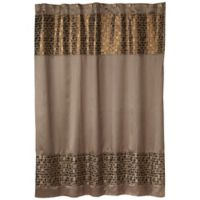 Popular Bath Mosaic Shower Curtain In Bronze