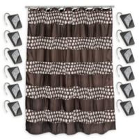 Sinatra Shower Curtain with Shower Hooks in Oil Rubbed Bronze