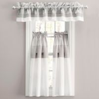 Nora 45-Inch Window Curtain Tier Pair in Grey